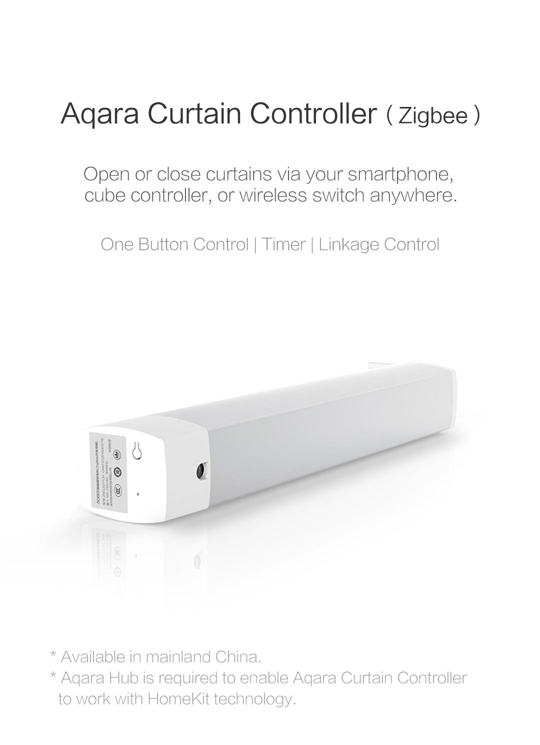 Aqara smart curtain controller - intelligent curtain motor that works with Apple HomeKit