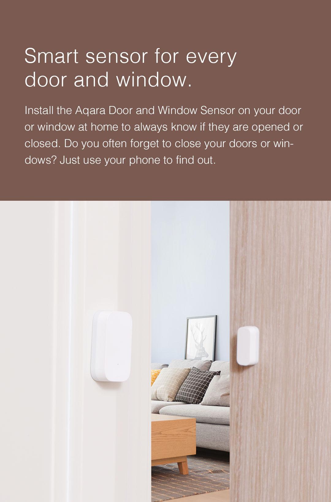 Smart Door/Window Sensor detects continously the status of your door or window