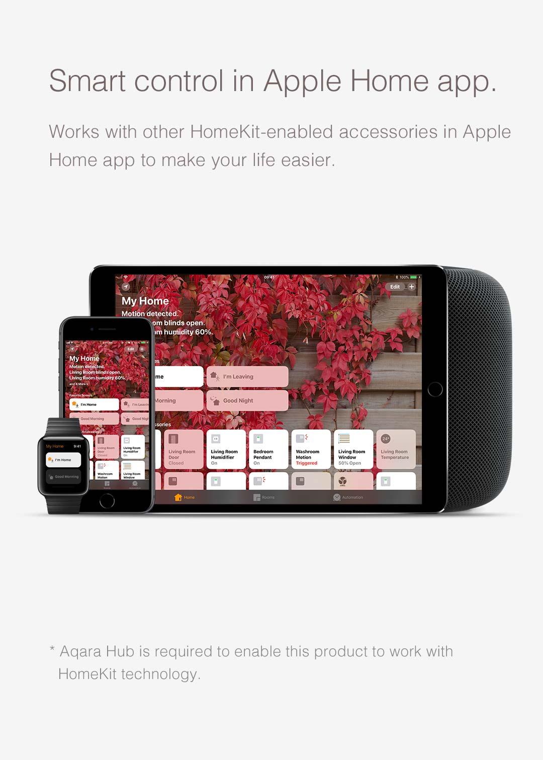 Smart Control in Apple Home App with Aqara door window sensor