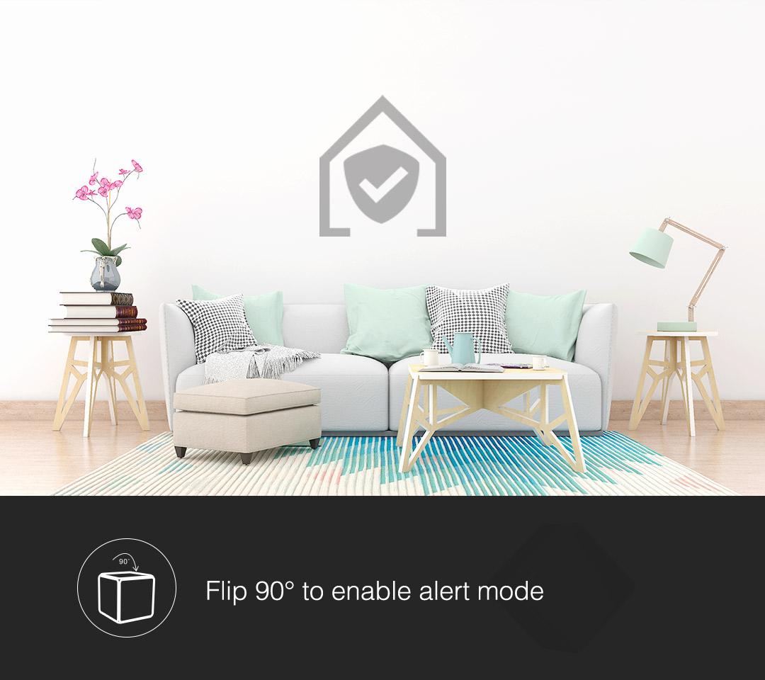 Flip 90 degrees Aqara cube to enable alert mode