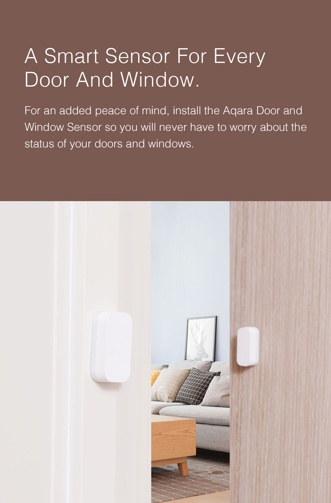 Smart Door/Window Sensor detects continously the status of your door or window