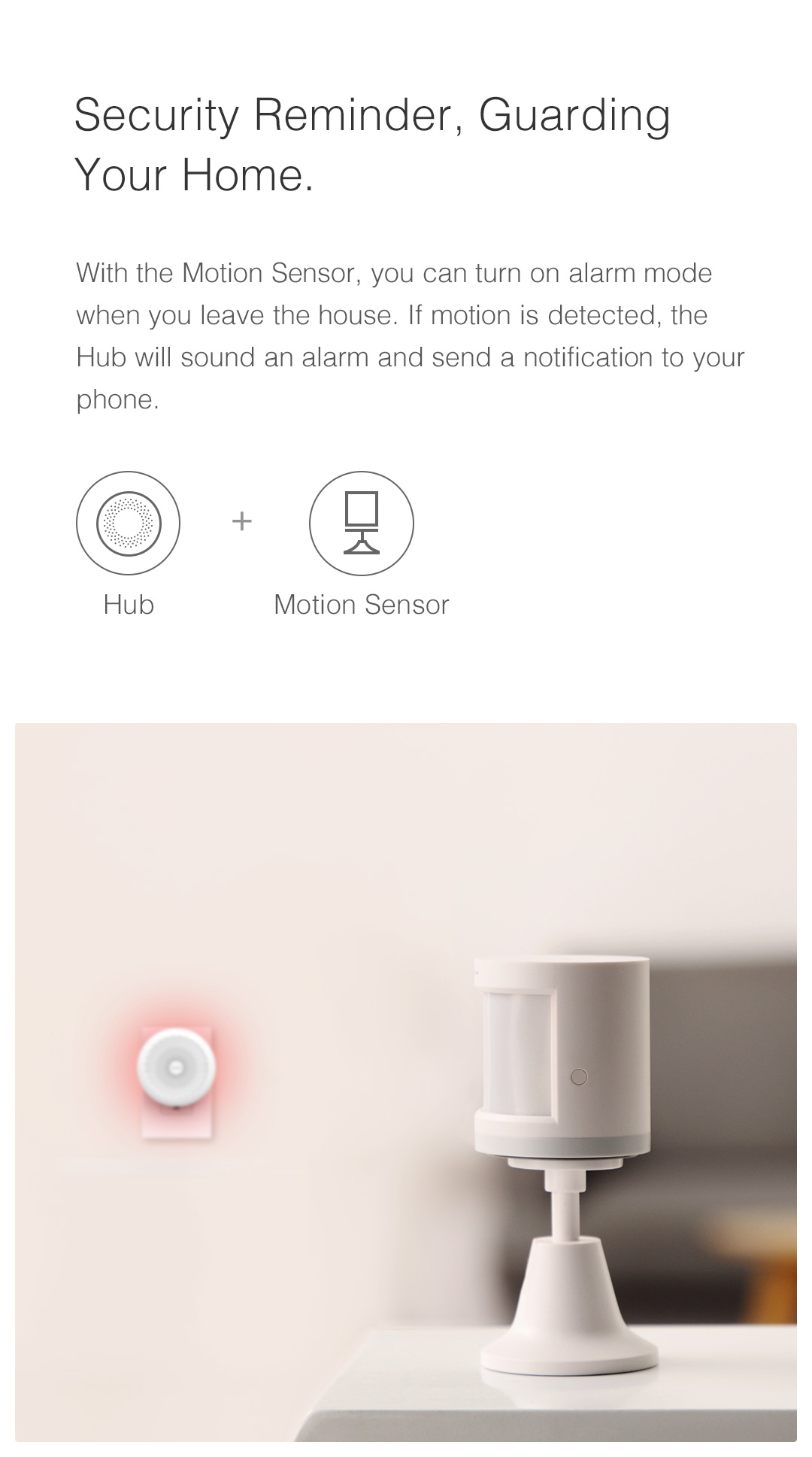 home security with Aqara gateway and wireless motion sensor to guard your home
