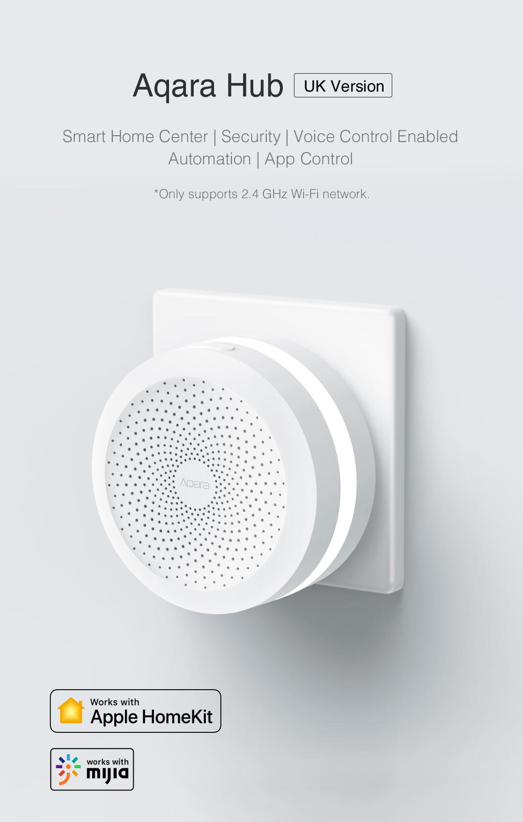 Aqara Hub UK version - homekit smart home hub that works with Apple HomeKit, Google Assistant and Mijia