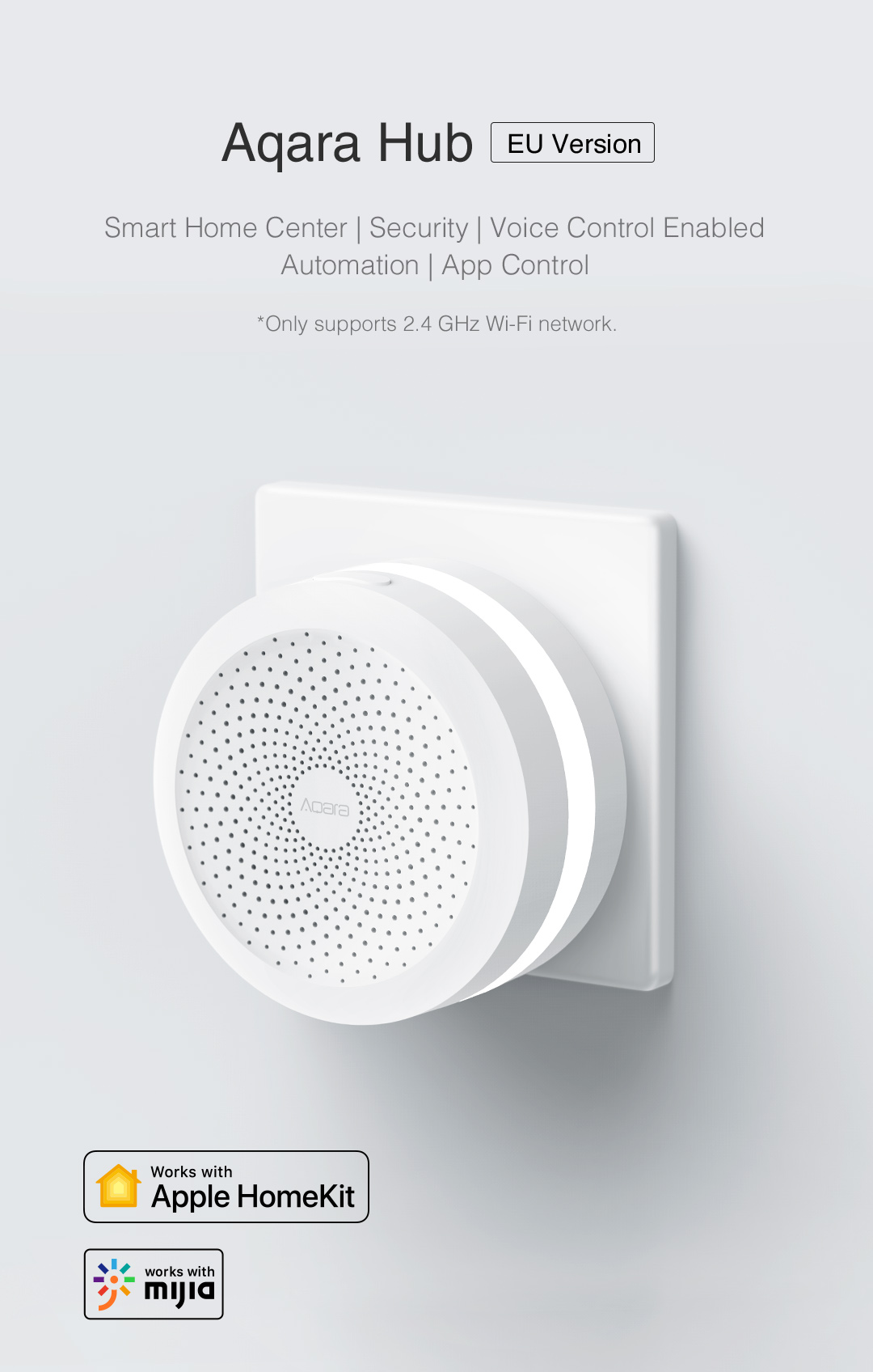 Aqara Hub eu version - homekit smart home hub that works with Apple HomeKit, Google Assistant and Mijia