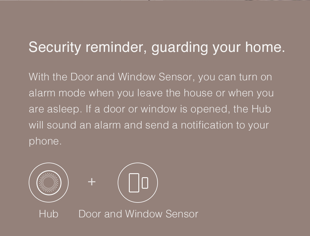 Aqara smart hub - Security reminder, guarding your home.