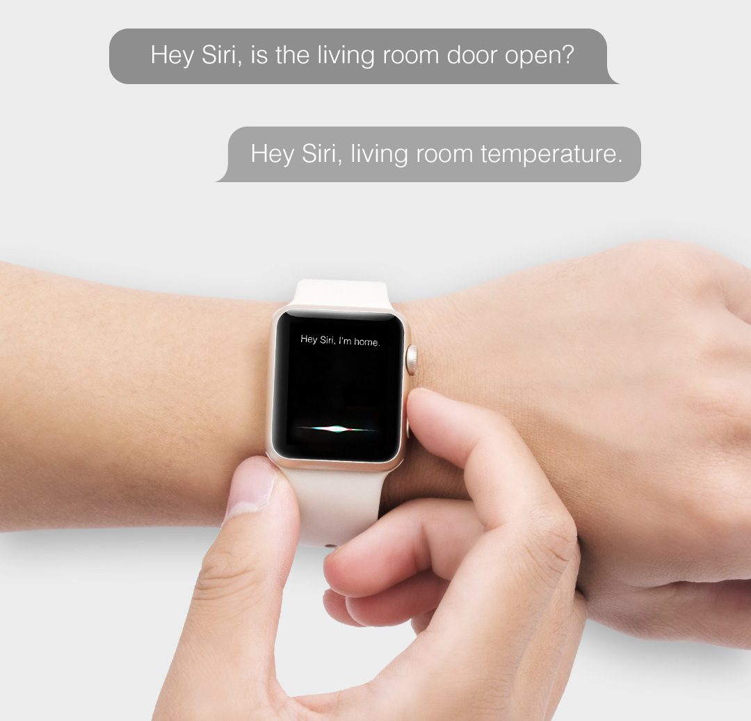 You can control Aqara accessories with Siri on your iPhone, iPad, Apple Watch or HomePod
