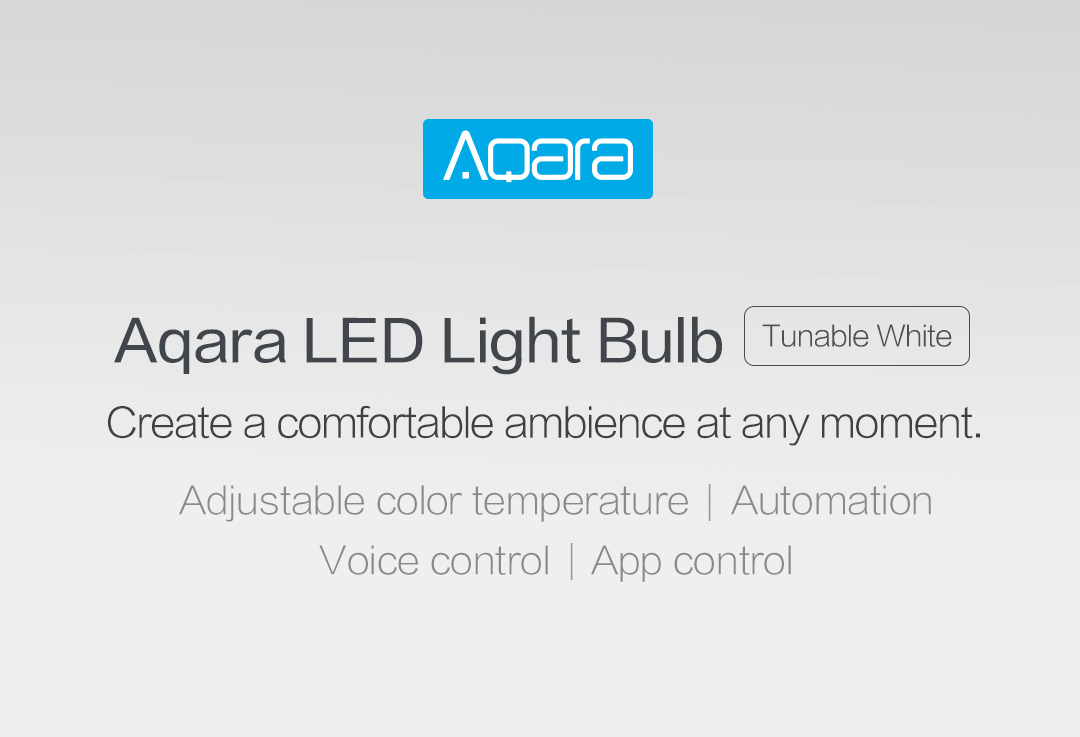 Aqara LED light bulb - create a comfortable ambience at any moment