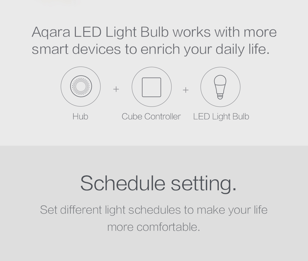 You can rotate the Cube to adjust smart bulb's brightness, push it to change the color temperature