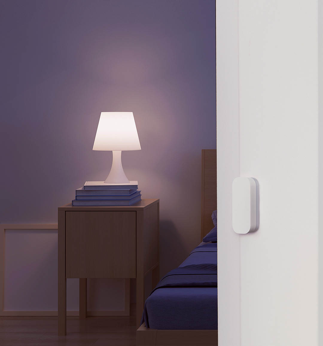 Smart bulb + door swnsor: Desk light Automatically Turns On When You Open the Door