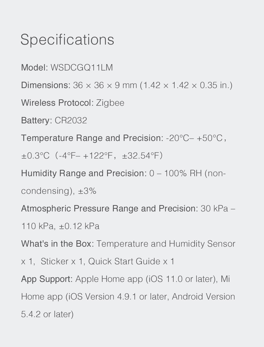 Temperature Sensor & Humidity Sensor   Aqara