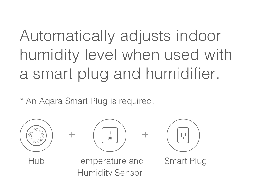 Automatically Adjusts Indoor Humidity Level When Used with a Smart Plug and Humidifie
