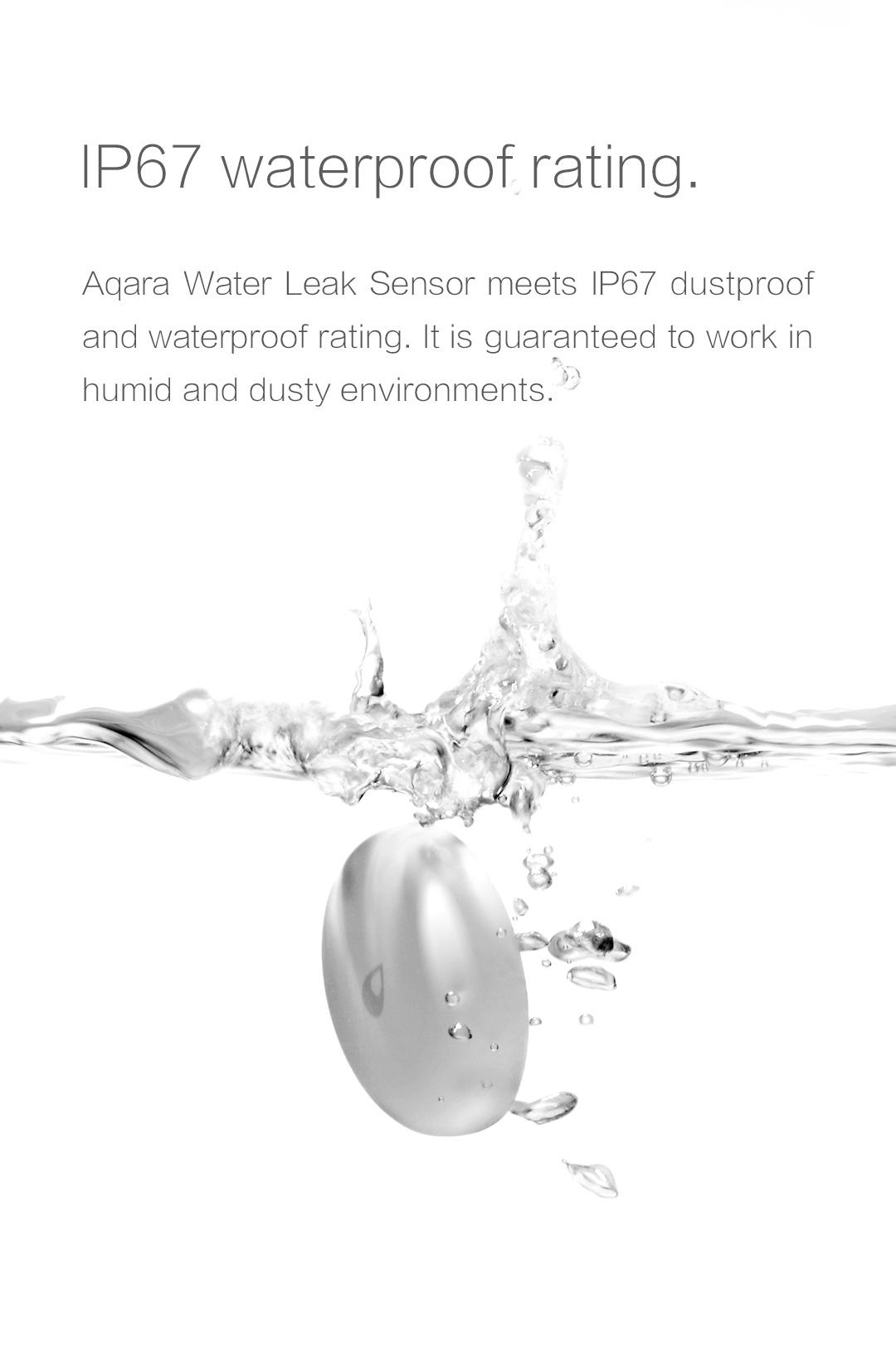 Our smart home water sensor meets IP67 dustproof and waterproof rating