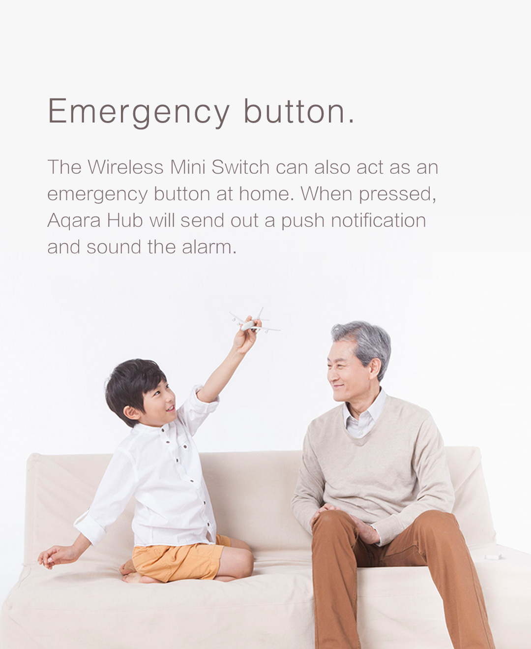 Aqara smart wireless switch can serve as a emergency button with aqara smart alarm siren