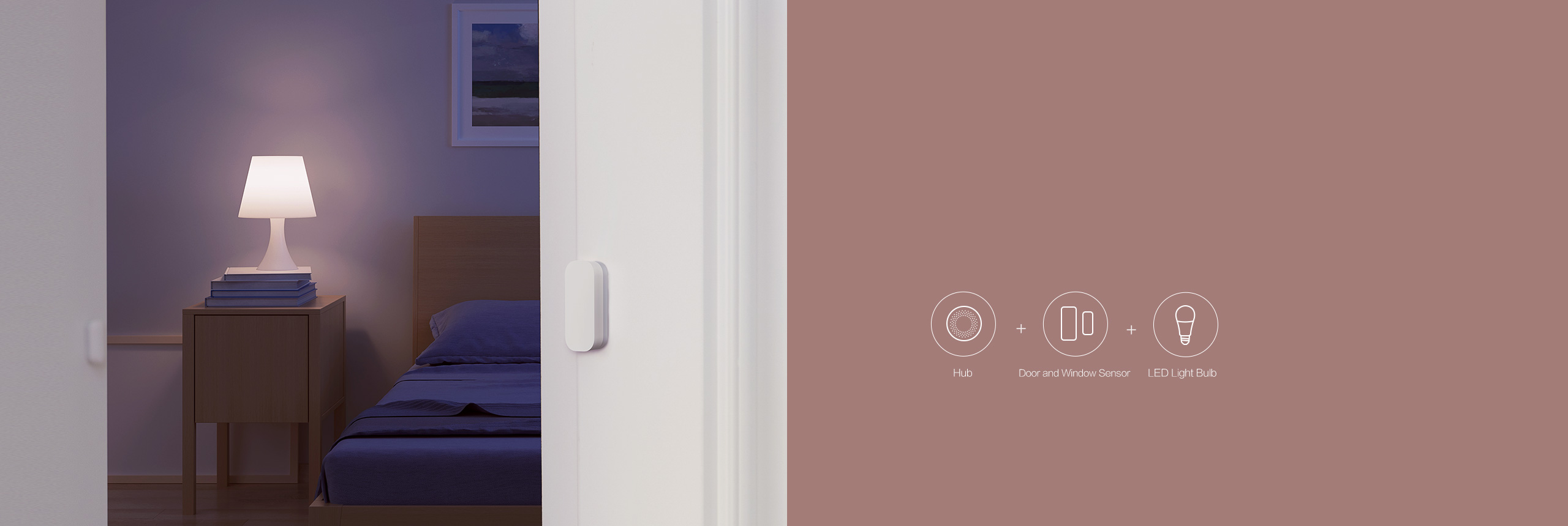 Smart bulb + door swnsor: Lights Automatically Turn On When You Open the Door