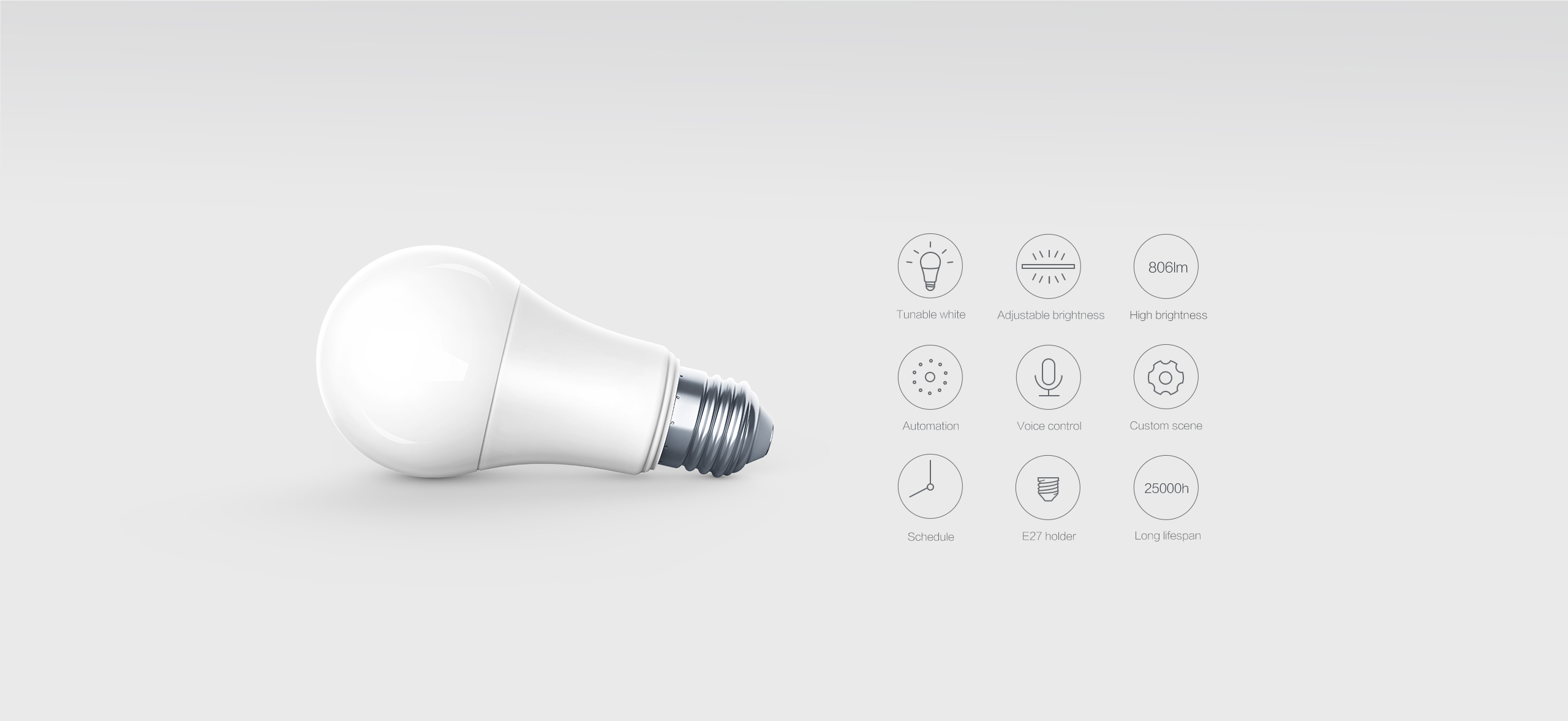 Aqara smart bulb E27 features