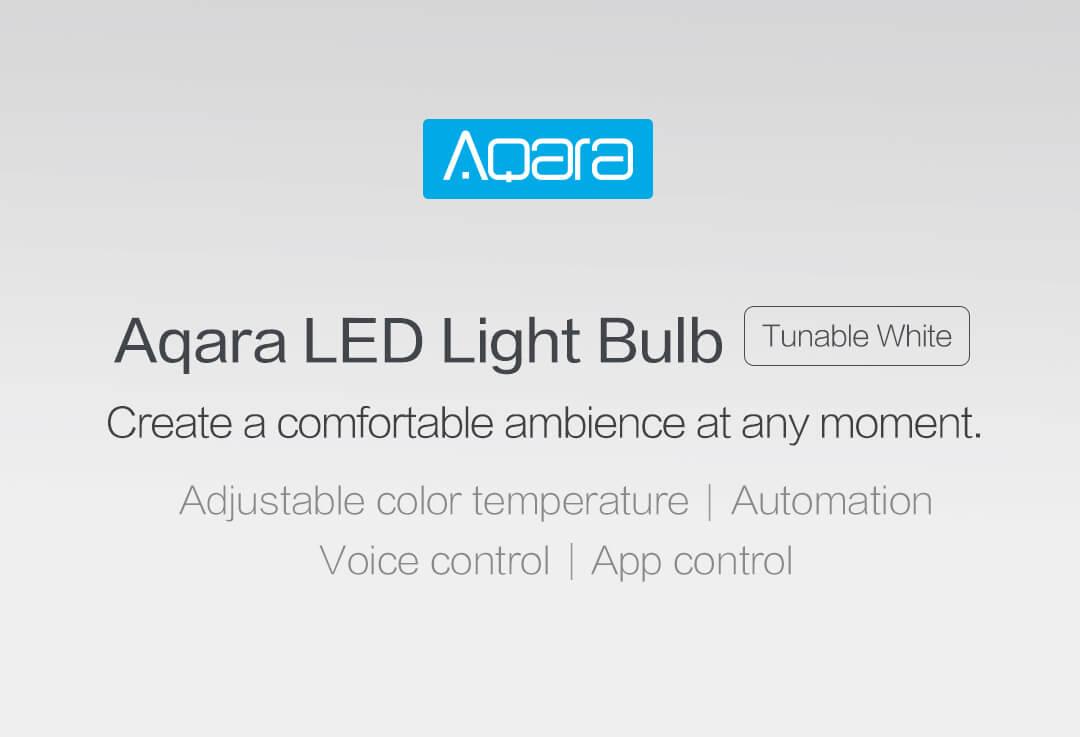 Aqara LED light bulb - create a comfortable ambience at any moment