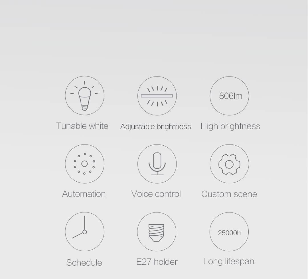 Aqara smart bulb E27 features
