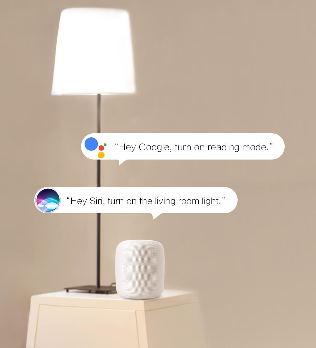 Ask your favorite voice assistant to turn on/off, adjust brightness and color temperature