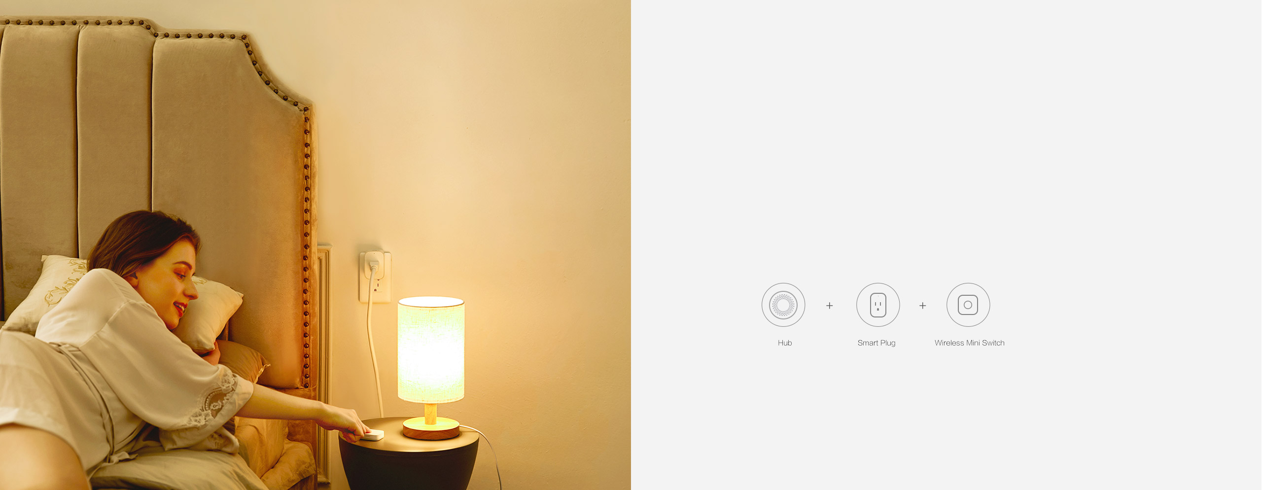 Remotely Turn off your desk lamp by a single press on our wireless light switch