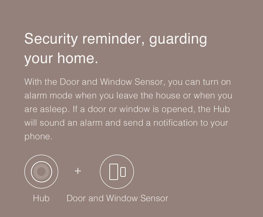 Aqara smart hub - Security reminder, guarding your home.