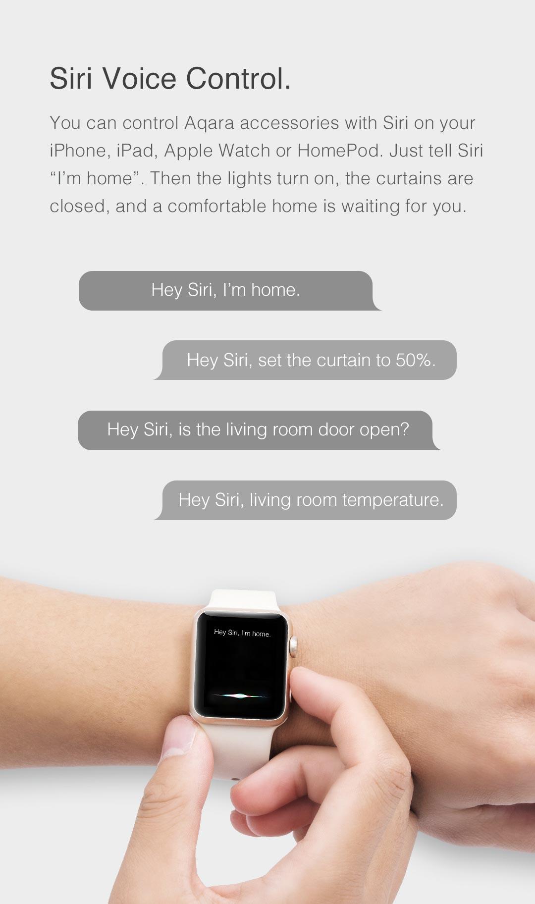 voice control with Aqara smart hub