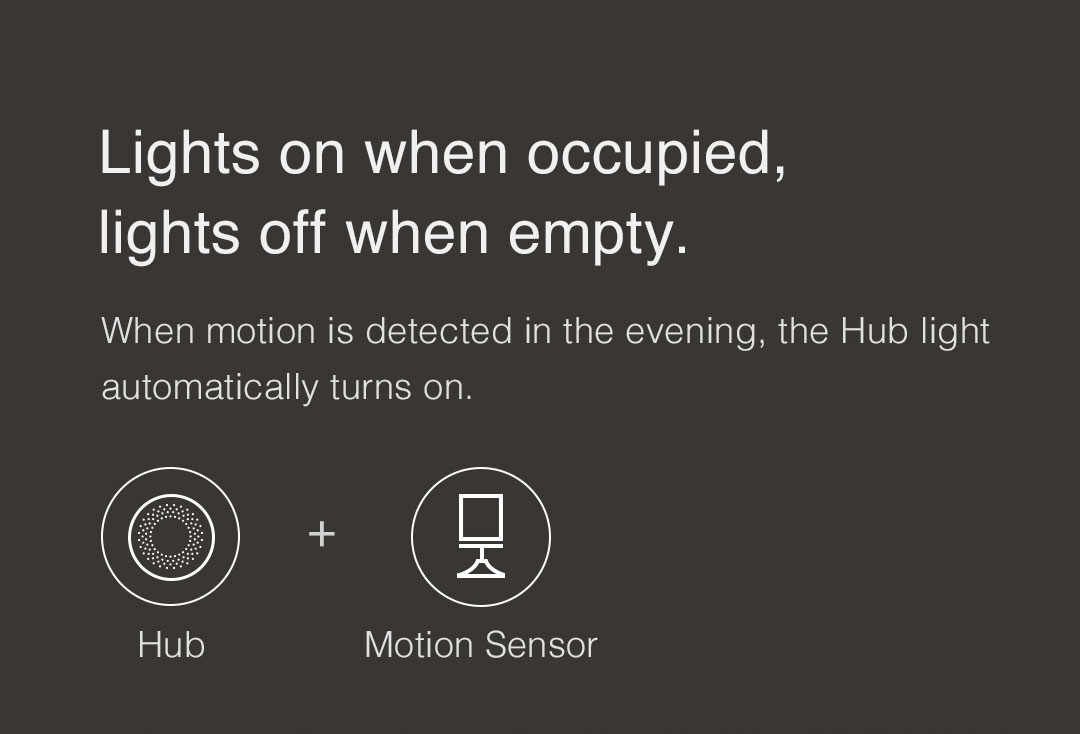 When motion is detected in the evening, the Aqara gateway night light automatically turns on