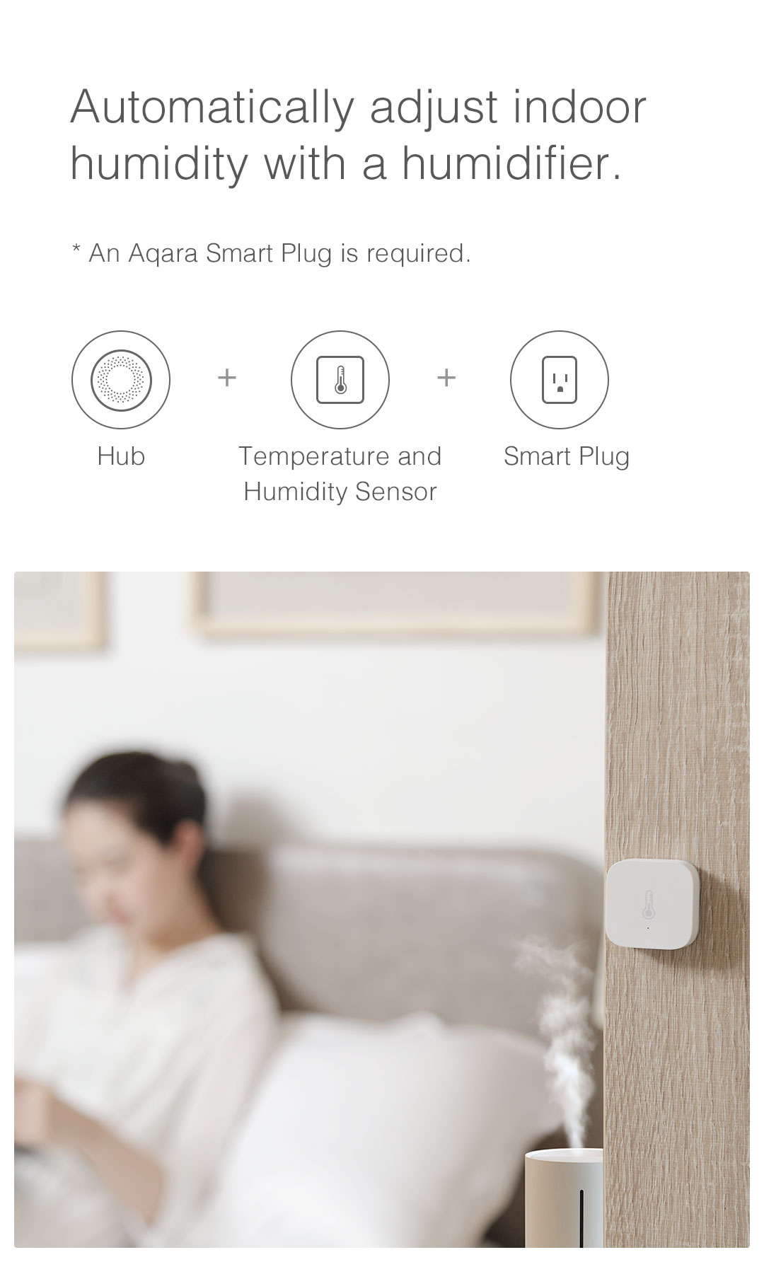 indoor zigbee temperature humidity sensor for smart humidity control