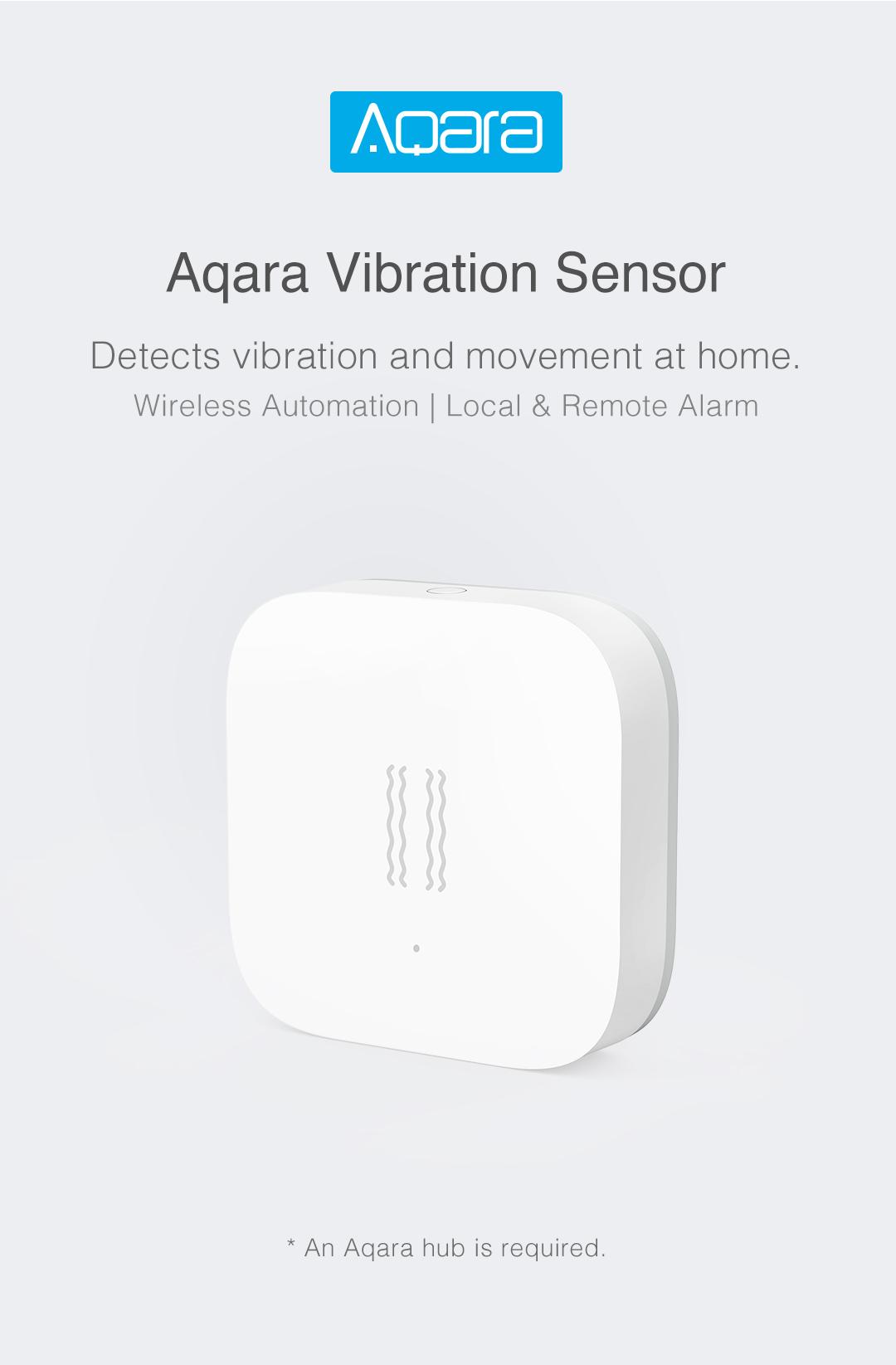 Aqara vibration sensor detects vibration at home. Wireless Automation   Local & Remote Alarm
