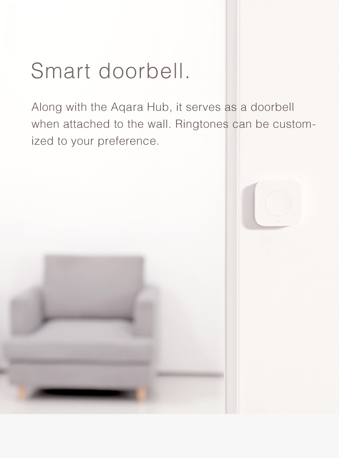 wireless remote switch can serve as a doorbell with Aqara hub