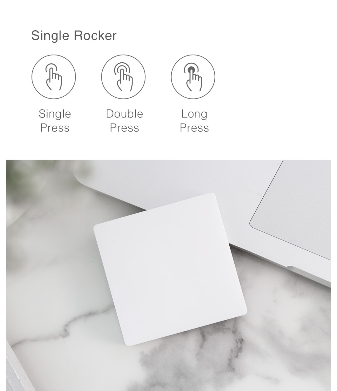 wireless smart switch with various actions to automate home automation products