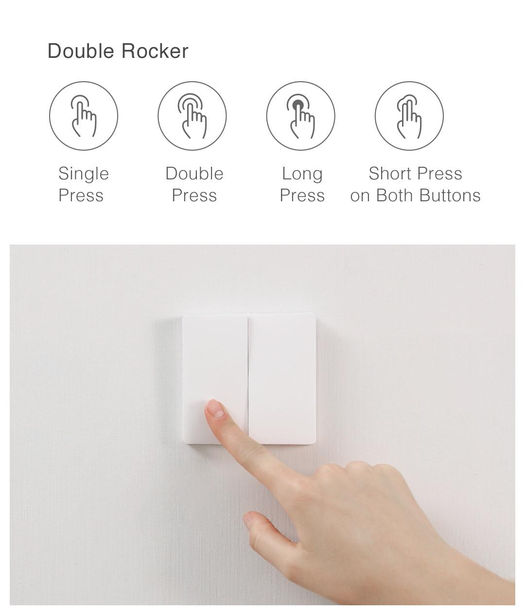 Aqara wireless remote switch double rocker function