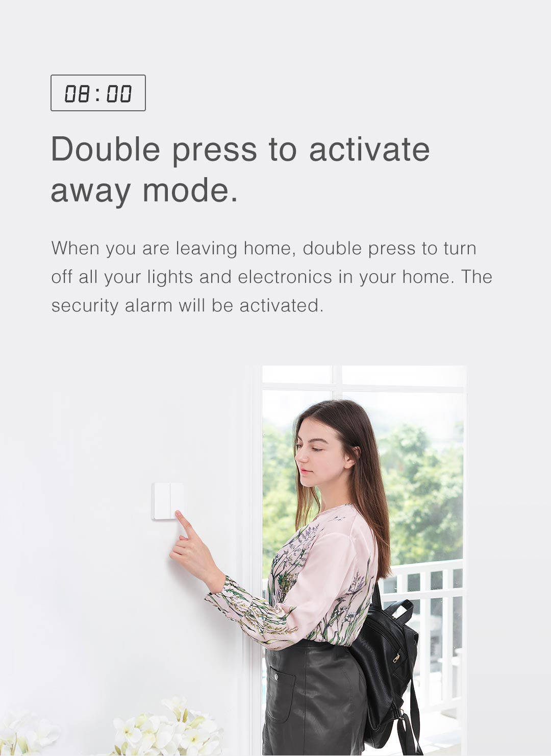 Double Press Aqara wireless remote control switch to Activate Away Mode