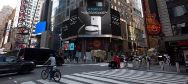 XCLEA清易首款扫拖机器人亮相时代广场,用实力惊艳世界