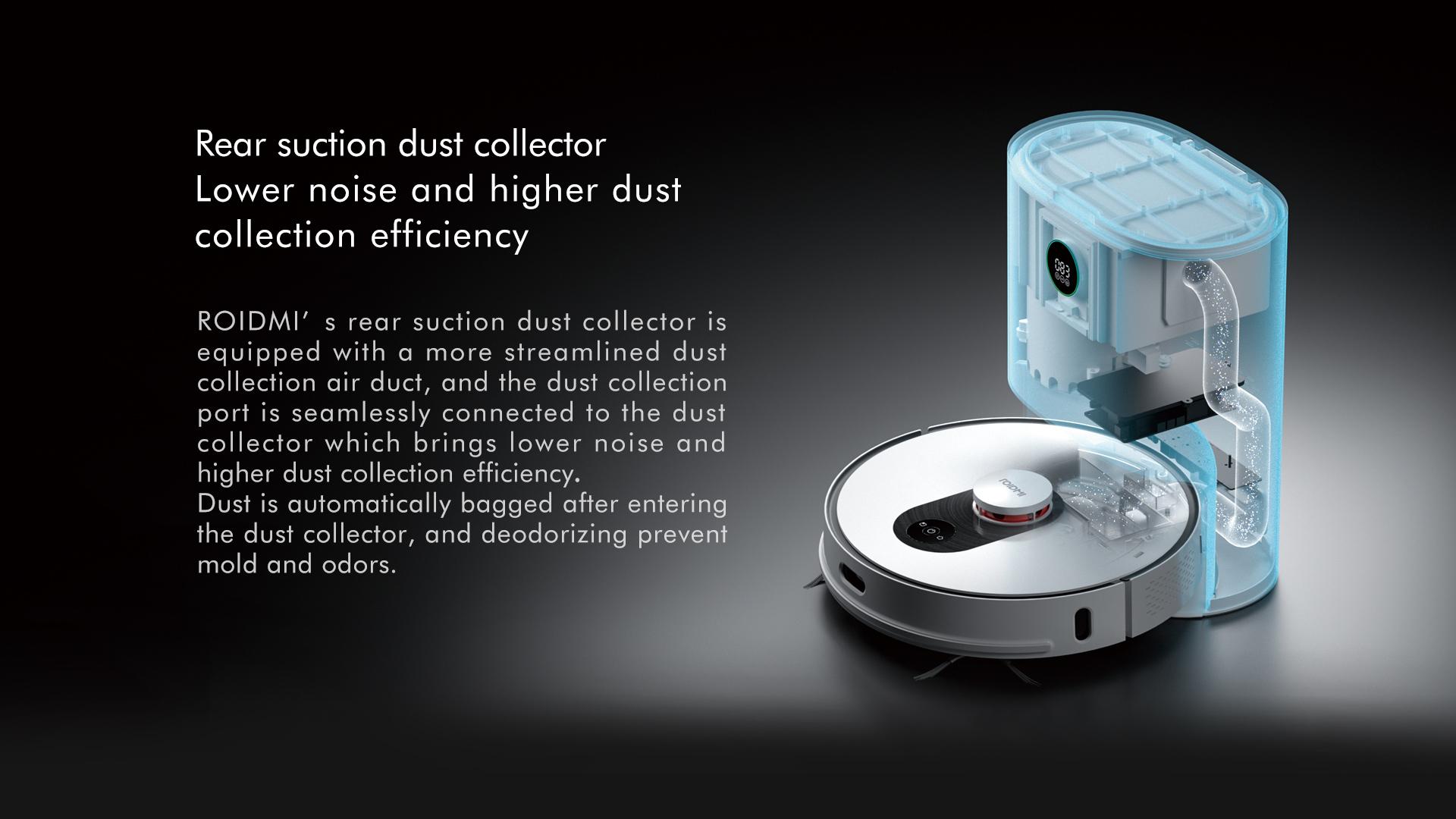 Roidmi EVE Plus, robot aspirador con vaciado automático del depósito